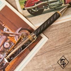 Stylo à thème Biker  - Fibre de carbone